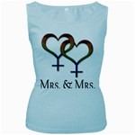 Mrs. and Mrs. Women s Baby Blue Tank Top Front