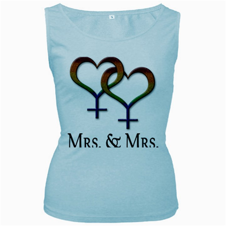 Mrs. and Mrs. Women s Baby Blue Tank Top
