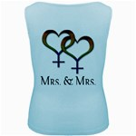Mrs. and Mrs. Women s Baby Blue Tank Top Back
