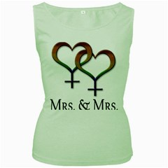 Mrs  And Mrs  Women s Green Tank Top by LiveLoudGraphics