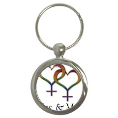 Mrs  And Mrs  Key Chain (round) by LiveLoudGraphics