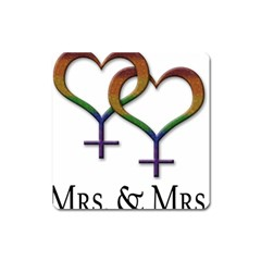 Mrs  And Mrs  Square Magnet