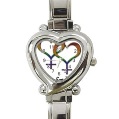 Mrs  And Mrs  Heart Italian Charm Watch by LiveLoudGraphics
