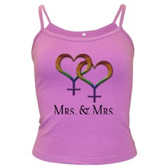 Mrs  And Mrs  Dark Spaghetti Tank by LiveLoudGraphics