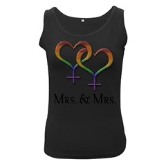 Mrs  And Mrs  Women s Black Tank Top by LiveLoudGraphics