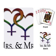 Mrs  And Mrs  Playing Cards Single Design (rectangle) by LiveLoudGraphics