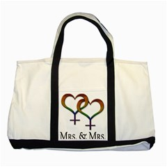 Mrs  And Mrs  Two Tone Tote Bag