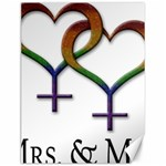 Mrs. and Mrs. Canvas 12  x 16  16 x12  Canvas - 1