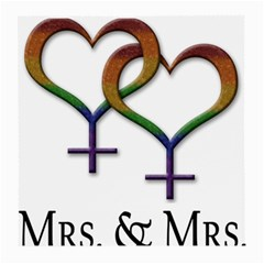 Mrs  And Mrs  Medium Glasses Cloth (2 Sides)