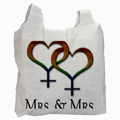 Mrs  And Mrs  Recycle Bag (two Side) by LiveLoudGraphics