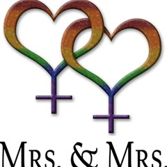 Mrs  And Mrs  Magic Photo Cube by LiveLoudGraphics