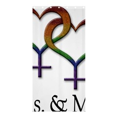 Mrs  And Mrs  Shower Curtain 36  X 72  (stall)  by LiveLoudGraphics