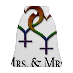 Mrs  And Mrs  Ornament (bell) by LiveLoudGraphics