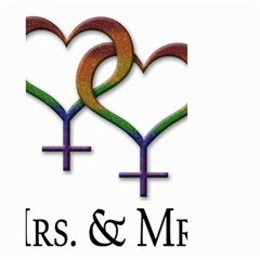 Mrs  And Mrs  Small Garden Flag (two Sides)