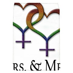 Mrs  And Mrs  Removable Flap Cover (s) by LiveLoudGraphics