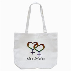 Mrs  And Mrs  Tote Bag (white) by LiveLoudGraphics