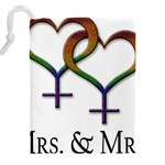 Mrs. and Mrs. Drawstring Pouch (5XL) Back