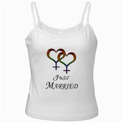 Just Married Lesbian Pride Ladies Camisoles by LiveLoudGraphics