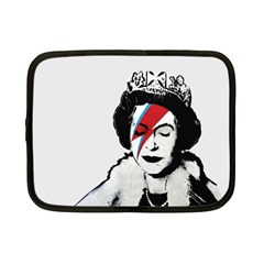 Banksy Graffiti Uk England God Save The Queen Elisabeth With David Bowie Rockband Face Makeup Ziggy Stardust Netbook Case (small) by snek