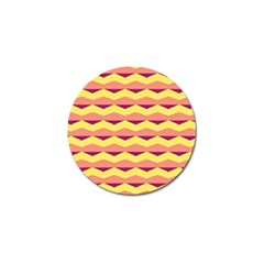 Background Colorful Chevron Golf Ball Marker