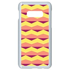 Background Colorful Chevron Samsung Galaxy S10e Seamless Case (white) by HermanTelo