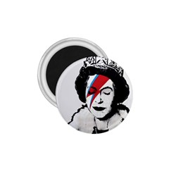 Banksy Graffiti Uk England God Save The Queen Elisabeth With David Bowie Rockband Face Makeup Ziggy Stardust 1 75  Magnets by snek