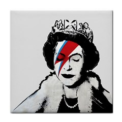 Banksy Graffiti Uk England God Save The Queen Elisabeth With David Bowie Rockband Face Makeup Ziggy Stardust Face Towel by snek