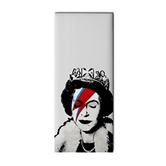 Banksy Graffiti Uk England God Save The Queen Elisabeth With David Bowie Rockband Face Makeup Ziggy Stardust Hand Towel by snek