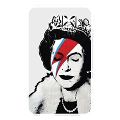 Banksy Graffiti Uk England God Save The Queen Elisabeth With David Bowie Rockband Face Makeup Ziggy Stardust Memory Card Reader (rectangular) by snek