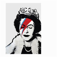 Banksy Graffiti Uk England God Save The Queen Elisabeth With David Bowie Rockband Face Makeup Ziggy Stardust Small Garden Flag (two Sides) by snek