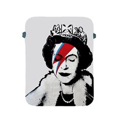 Banksy Graffiti Uk England God Save The Queen Elisabeth With David Bowie Rockband Face Makeup Ziggy Stardust Apple Ipad 2/3/4 Protective Soft Cases by snek
