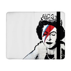 Banksy Graffiti Uk England God Save The Queen Elisabeth With David Bowie Rockband Face Makeup Ziggy Stardust Samsung Galaxy Tab Pro 8 4  Flip Case by snek