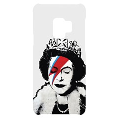 Banksy Graffiti Uk England God Save The Queen Elisabeth With David Bowie Rockband Face Makeup Ziggy Stardust Samsung S9 Black Uv Print Case by snek