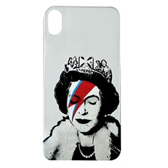 Banksy Graffiti Uk England God Save The Queen Elisabeth With David Bowie Rockband Face Makeup Ziggy Stardust Apple Iphone Xr Tpu Uv Case by snek