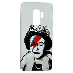 Banksy Graffiti Uk England God Save The Queen Elisabeth With David Bowie Rockband Face Makeup Ziggy Stardust Samsung Galaxy S9 Plus Tpu Uv Case