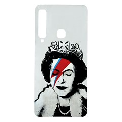 Banksy Graffiti Uk England God Save The Queen Elisabeth With David Bowie Rockband Face Makeup Ziggy Stardust Samsung Galaxy A9 Tpu Uv Case by snek