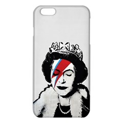 Banksy Graffiti Uk England God Save The Queen Elisabeth With David Bowie Rockband Face Makeup Ziggy Stardust Iphone 6 Plus/6s Plus Tpu Case by snek
