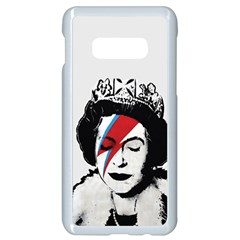 Banksy Graffiti Uk England God Save The Queen Elisabeth With David Bowie Rockband Face Makeup Ziggy Stardust Samsung Galaxy S10e Seamless Case (white) by snek