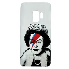 Banksy Graffiti Uk England God Save The Queen Elisabeth With David Bowie Rockband Face Makeup Ziggy Stardust Samsung Galaxy S9 Tpu Uv Case by snek