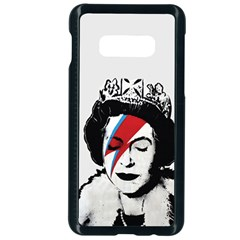 Banksy Graffiti Uk England God Save The Queen Elisabeth With David Bowie Rockband Face Makeup Ziggy Stardust Samsung Galaxy S10e Seamless Case (black) by snek