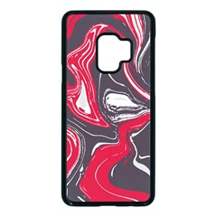 Red Vivid Marble Pattern Samsung Galaxy S9 Seamless Case(black) by goljakoff