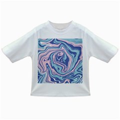 Blue And Pink Vivid Marble Pattern Infant/toddler T Shirts