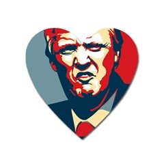 Nope Trump Heart Magnet by goljakoff