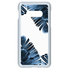 Blue Tropical Leaves Samsung Galaxy S10e Seamless Case (white) by goljakoff