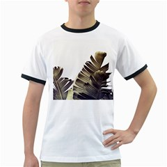Vintage Banana Leaves Ringer T by goljakoff