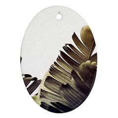 Vintage Banana Leaves Oval Ornament (two Sides) by goljakoff