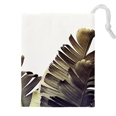 Vintage Banana Leaves Drawstring Pouch (4xl) by goljakoff