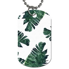 Green Banana Leaves Dog Tag (two Sides)