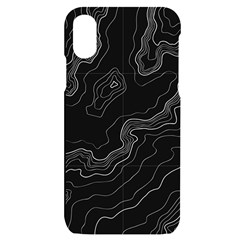 Topography Map Iphone X/xs Black Uv Print Case by goljakoff