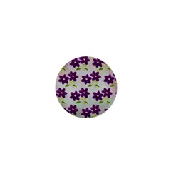 Purple Flower 1  Mini Magnets